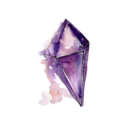 Purple diamond rock jewelry mineral.