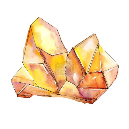 Orange diamond rock jewelry mineral.