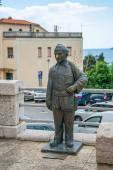 statute of chimney sweep Rudy Nyuni Karijucha located in Herceg Novi, Montenegro.