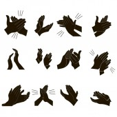 Applause set clapping hands vector design illustration
