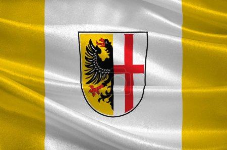 Flagge von Memmingen in Schwaben in Bayern, Deutschland