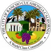 Coat of arms of Rancho Cucamonga in San Bernardino County of Cal