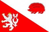 Flag of Jihlava in Vysocina Region of Czech Republic