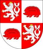 Coat of arms of Jihlava in Vysocina Region of Czech Republic
