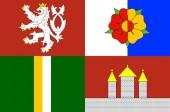 Flag of South Bohemia Region in Czech Republic
