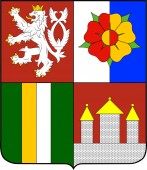 Coat of arms of South Bohemia Region in Czech Republic