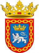 Coat of arms of Pamplona in Navarre in Spain