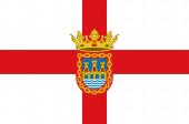 Flag of Tudela in Navarre in Spain