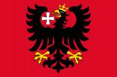 Flag of Wetzlar in Lahn-Dill of Hesse Germany