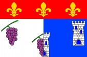 Flag of Les Andelys in Eure of Normandy is a Region of France