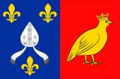 Flag of Charente-Maritime in Nouvelle-Aquitaine is the largest