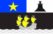 Flag of Rochefort in Charente-Maritime of Nouvelle-Aquitaine is