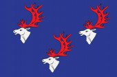 Flag of Umea is a capital city of Vasterbotten County of Sweden