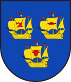 Coat of arms of Nordfriesland in Schleswig-Holstein in Germany