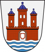 Coat of arms of Rendsburg in Schleswig-Holstein in Germany