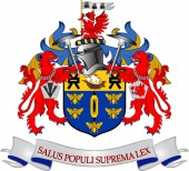 Coat of arms of City of Salford is a city and metropolitan borough in Greater Manchester England Vector illustration