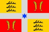 Flag of Montbeliard in Doubs of Franche-Comte is a Region of Fra