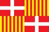 Flag of Bonneville in Haute-Savoie of Auvergne-Rhone-Alpes regio