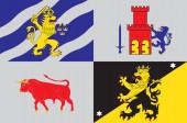 Flag of Vastra Gotaland County in Sweden