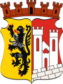 Coat of arms of Juelich city in North Rhine-Westphalia Germany