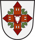 Coat of arms of Segeberg in Schleswig-Holstein in Germany