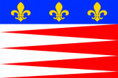 Flag of Castres in Tarn of Occitanie is a Region of France
