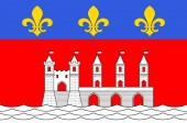 Flag of Saintes in Charente-Maritime of Nouvelle-Aquitaine is th