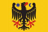Flag of Orebro city in Orebro County of Sweden