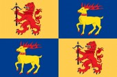 Flag of Kalmar County is a county in southern Sweden Vector illustration