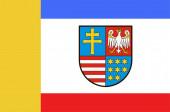 Flag of Swietokrzyskie Voivodeship in central Poland