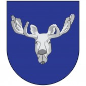 Coat of arms of Ostersund in Jamtland County of Sweden