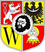 Flag of Wroclaw Poland