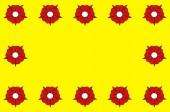 Flag of L'Hay-les-Roses in Val-de-Marne in Ile-de-France France