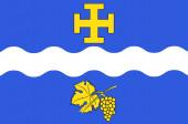 Flag of Creteil in Val-de-Marne in Ile-de-France France