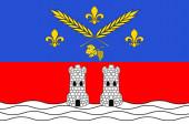 Flag of Nogent-sur-Marne in Val-de-Marne in Ile-de-France Franc