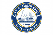 Flag of Gainesville in Florida USA