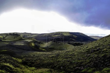 Landscape of Lakagigar volcanic valley at Iceland