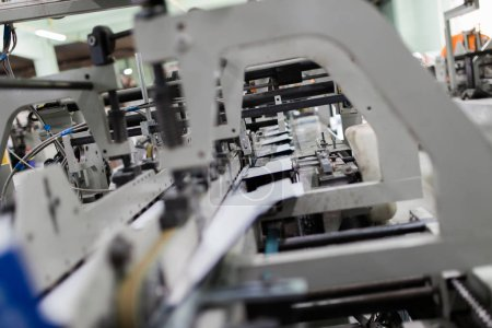 Machinery and printing processes in a modern printing house.