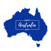 Australia Day Vector Banner for Happy Australia National Day with Australian map Greeting card poster holiday background template Colorful illustration