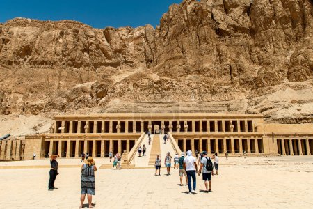 Photo for Luxor Egypt 18.05.2018 - The antique temple of female pharao Hatchepsut near Luxor in Egypt. - Royalty Free Image