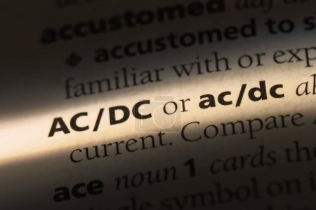 ACDC word in a dictionary