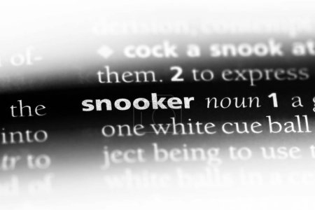 snooker word in a dictionary