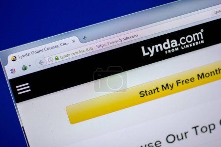 Ryazan, Russia - June 05, 2018: Homepage of Lynda website on the display of PC, url - Lynda.com