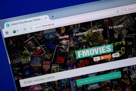 Photo for Ryazan, Russia - June 26, 2018: Homepage of Fmovies website on the display of PC. URL - Fmovies.ac - Royalty Free Image