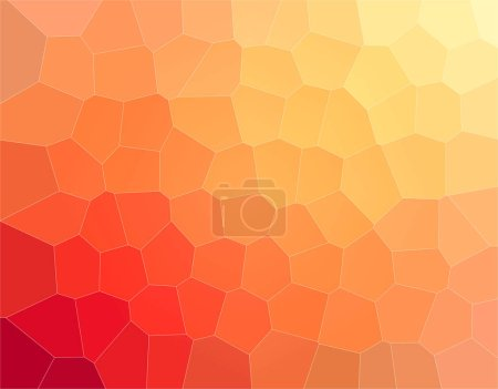 Photo for Lovely abstract illustration of yellow, orange and red Big hexagon. Lovely  for your work. - Royalty Free Image