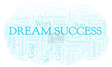 Dream Success word cloud. Wordcloud made with text only.