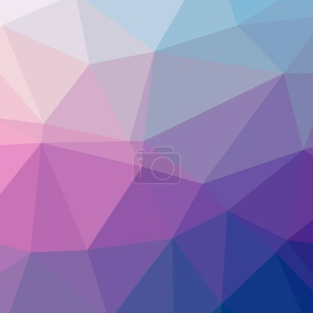 Illustration of beautiful blue low poly background