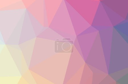 Photo for Illustration of beautiful purple and yellow low poly background - Royalty Free Image
