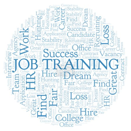 Job Training word cloud. Wordcloud made with text only.