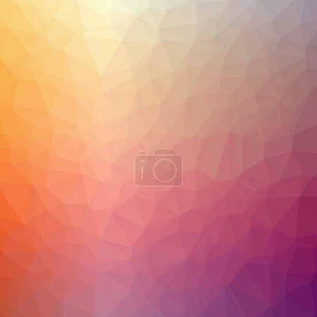 Illustration of abstract low poly red square background